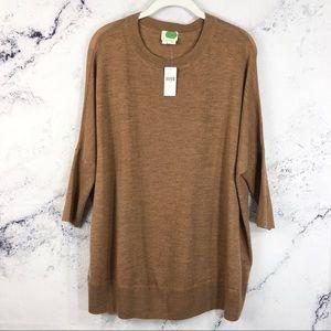 NWT Anthropologie boxy oversized wool sweater Sz S